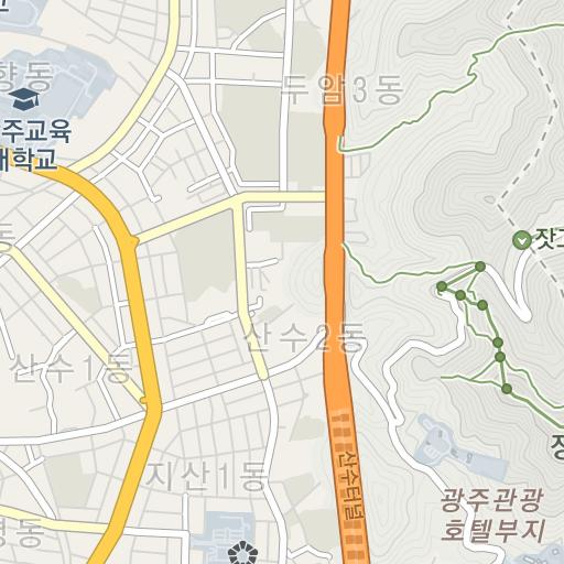 光州パレス観光ホテルの地図(マ...
